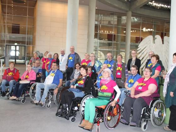 Gruppenfoto im Reichstagsgebäude
